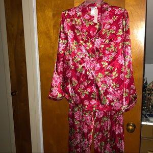 Flower Satin Pajamas
